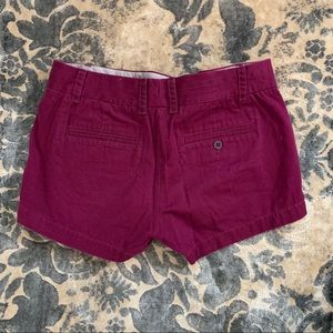 Purple J Crew Chino Shorts
